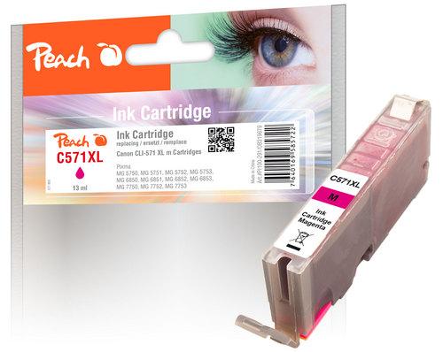 Peach Tintenpatrone XL magenta kompatibel zu Canon CLI-571XL m