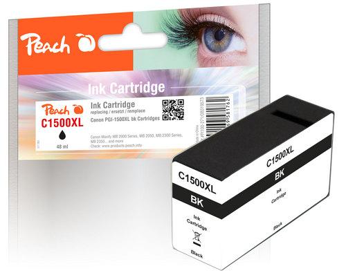 Peach XL-Tintenpatrone schwarz  kompatibel zu Canon PGI-1500, PGI-1500BK XL
