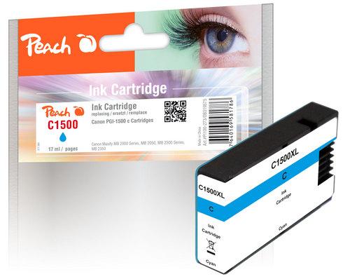 Peach XL-Tintenpatrone cyan kompatibel zu Canon PGI-1500, PGI-1500C XL