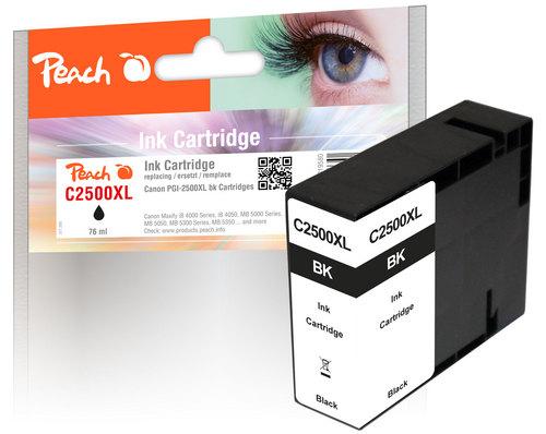 Peach XL-Tintenpatrone schwarz  kompatibel zu Canon PGI-2500, PGI-2500BK XL