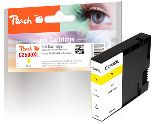 Peach XL-Tintenpatrone gelb kompatibel zu Canon PGI-2500, PGI-2500Y XL
