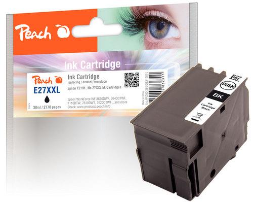 Peach Cartouche d'encre noire compatible avec Epson T2791, No. 27XXL