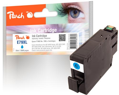 Peach Cartouche d'encre XL cyan, compatible avec Epson No. 79XL, T7902