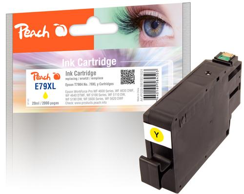 Peach Tintenpatrone HY gelb kompatibel zu Epson No. 79XL, T7904