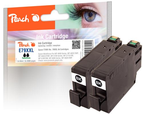 Peach Doppelpack Tintenpatronen XXL schwarz kompatibel zu Epson No. 79XXL, T7891
