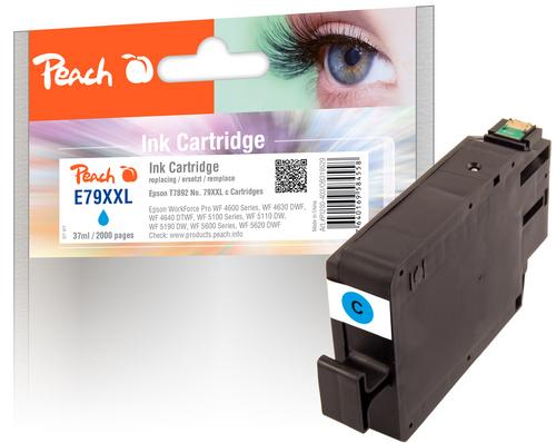 Peach Cartouche d'encre XXL cyan, compatible avec Epson No. 79XXL, T7892