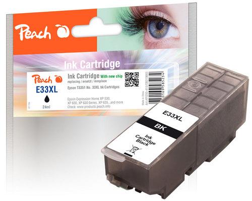 Peach Tintenpatrone XL schwarz kompatibel zu Epson No. 33XL, T3351