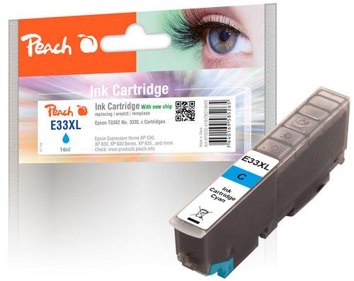 Peach Tintenpatrone XL cyan kompatibel zu Epson No. 33XL, T3362