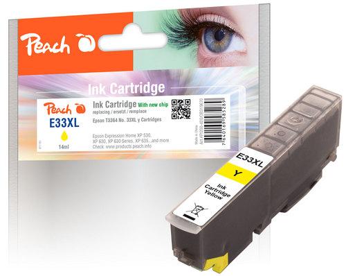 Peach Tintenpatrone XL gelb kompatibel zu Epson No. 33XL, T3364
