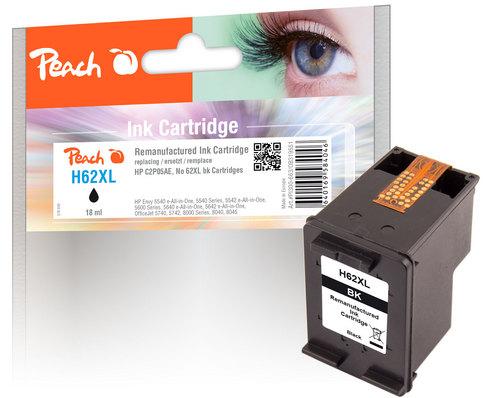 Peach Druckkopf schwarz kompatibel zu HP No. 62XL, C2P05E
