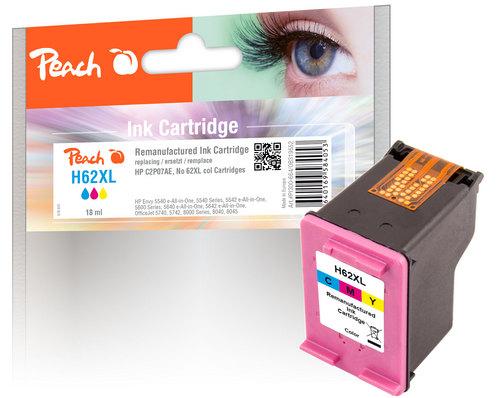 Peach Tête d'impression couleur, compatible avec HP No. 62XL, C2P07AE