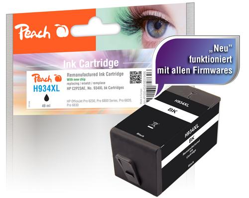 Peach Tintenpatrone schwarz HC kompatibel zu HP No. 934XL, C2P23AE