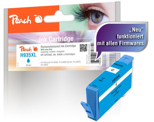 Peach Cartouche d'encre cyan HC compatible avec HP No. 935XL, C2P24AE