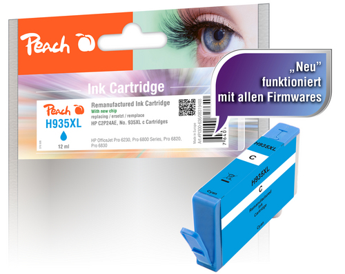 Peach Tintenpatrone cyan HC kompatibel zu HP No. 935XL, C2P24AE