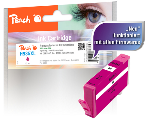 Peach Tintenpatrone magenta HC kompatibel zu HP No. 935XL, C2P25AE