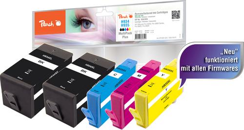 Peach Spar Pack Plus Tintenpatronen kompatibel zu HP No. 934XL, No. 935XL