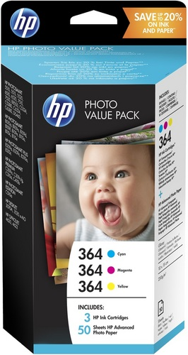 HP Nr. 364 Photo Value Pack TPA cyan, magenta und yellow, 85 10x15cm Photo Paper