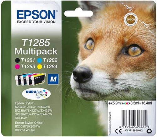 Epson T12854012 Multipack, TPA schwarz, cyan, magenta und yellow