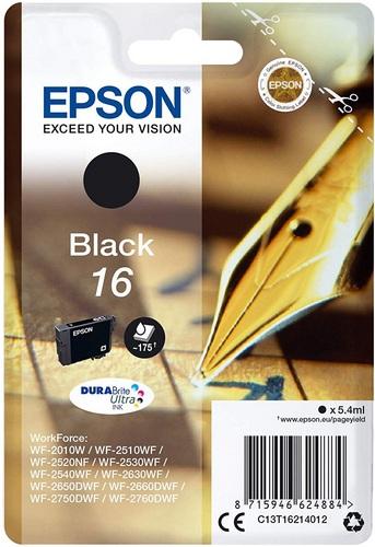 Epson 16, Cartuccia d'inchiostro nero, 5.4ml, 175 pagine