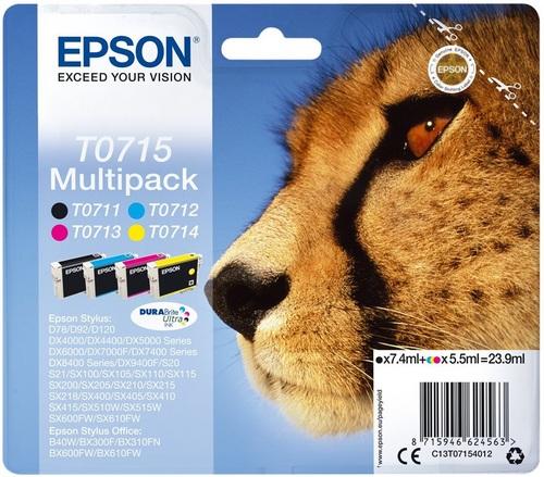 Epson T0715, TPA farbig DuraBrite Ultra Multipack