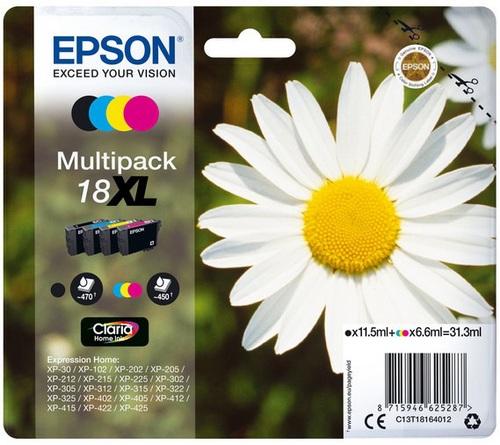 Epson 18XL Multipack, TPA schwarz, cyan, magenta und yellow