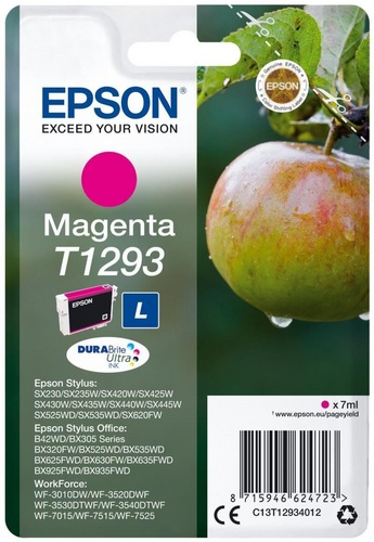 Epson T1293, TPA magenta, 7ml