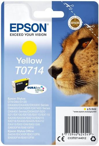 Epson T0714, TPA yellow, DuraBrite Ultra