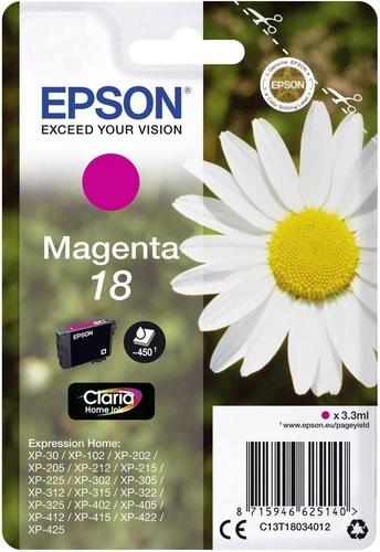 Epson 18, TPA magenta, 180 Seiten, 3.3ml