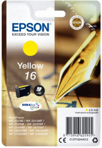 Epson 16, TPA yellow, 3.1ml, 165s