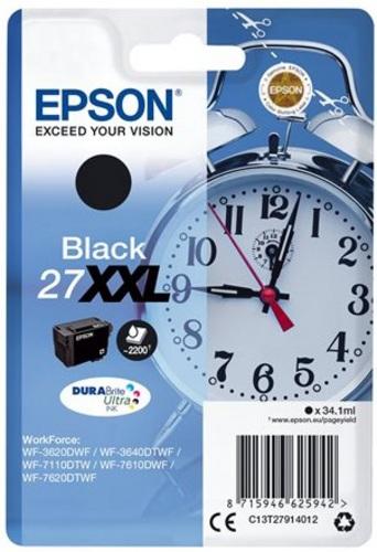 Epson 27XXL, TPA schwarz, 2'200 Seiten, 34.1ml