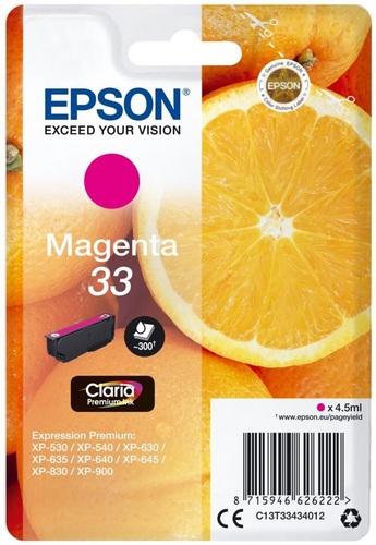 Epson 33, TPA magenta, 300s, 4.5ml