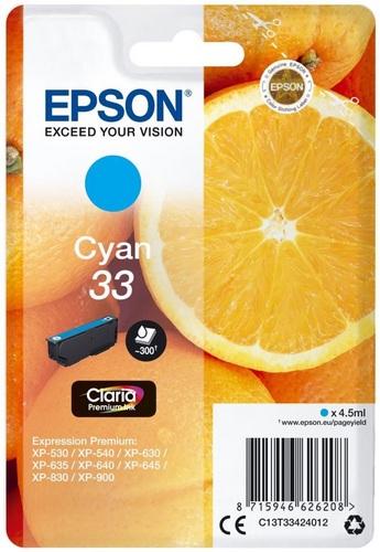 Epson 33, TPA cyan, 300s, 4.5ml