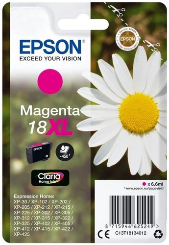 Epson 18XL, TPA magenta, 450 Seiten, 6.6ml