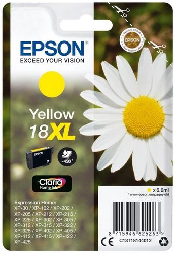 Epson 18XL, TPA yellow, 450 Seiten, 6.6ml