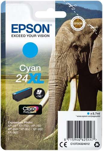Epson 24XL ciano, 740 pagine, 8.7ml
