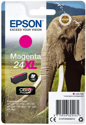 Epson 24XL magenta, 740 pages, 8.7ml