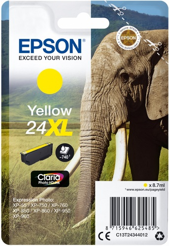 Epson 24XL jaune, 740 pages, 8.7ml