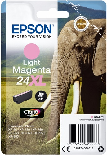 Epson 24XL magenta claire, 740 pages, 9.8ml