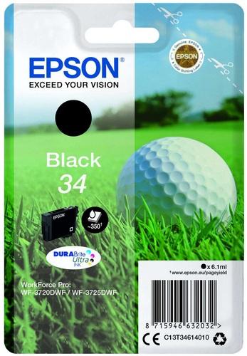 Epson 34 black, TPA DURABrite Ultra, 350 Seiten, 6.1ml
