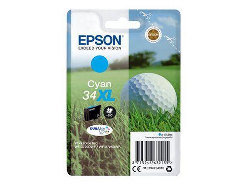 Epson 34XL cyan, TPA DURABrite Ultra, 950 Seiten, 10.8ml