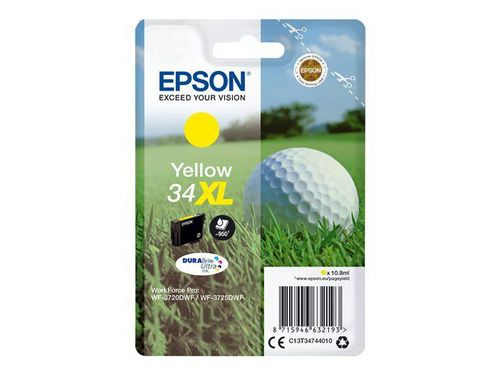 Epson 34XL yellow, TPA DURABrite Ultra, 950 Seiten, 10.8ml