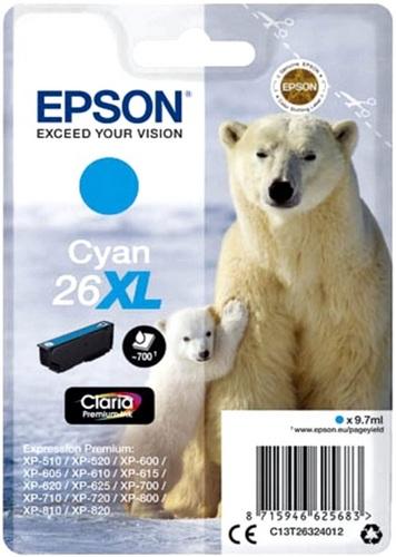 Epson T26XL, TPA cyan, 700 Seiten, 9.7ml