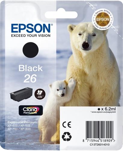 Epson T26, TPA schwarz, 220 Seiten, 6.2ml