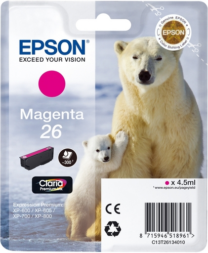 Epson T26, TPA magenta, 300 Seiten, 4.5ml