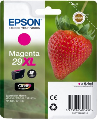 Epson 29XL, TPA magenta, 450s, 6.4ml