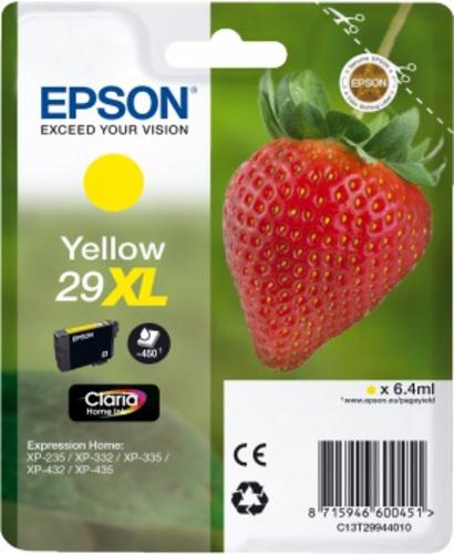 Epson 29XL, TPA yellow, 450s, 6.4ml