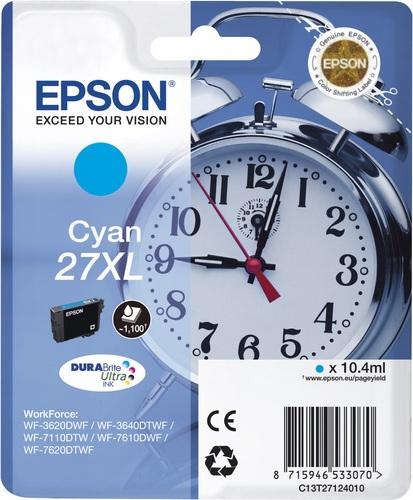 Epson 27XL, TPA cyan, 1'100 Seiten, 10.4ml