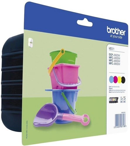 Brother LC221VALBP, TPA schwarz, cyan, magenta, yellow, Value Pack