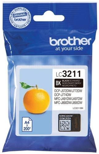 Brother LC3211BK, TPA schwarz, 200 Seiten