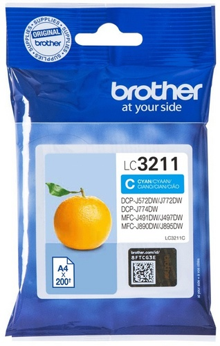 Brother LC3211C, TPA cyan, 200 Seiten